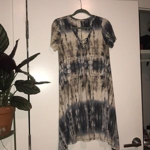 Tie dye soft jersey t-shirt dress